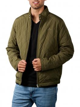 Image of Gant Qiilted Windcheater Jacket racing green