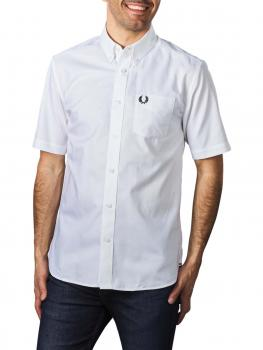 Image of Fred Perry Short Sleeve Oxford Shirt white