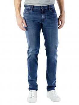 Image of Alberto Slim Jeans Dual FX Denim dark blue