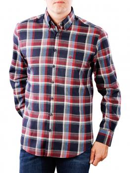 Image of Fynch-Hatton Shirt Flannel Fond Check navy