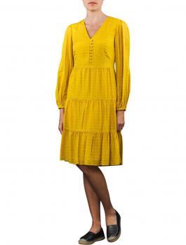 Image of Set Volant Dress Long yellow sun