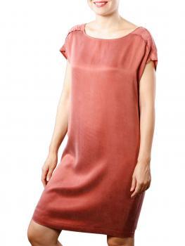 Image of Yaya Dress Cupro W Strap wooden red
