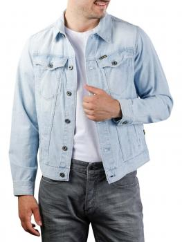 Image of G-Star 3301 Slim Jacket 7 oz Denim sun faded orion blue