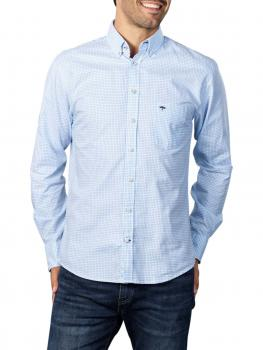 Image of Fynch-Hatton All Season Oxford Shirt light blue check