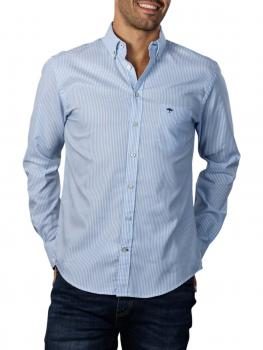 Image of Fynch-Hatton All Season Oxford Shirt light blue stripe