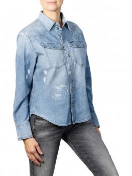 Image of G-Star Western Denim Relaxed Shirt sun faded capri blue