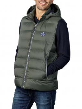 Image of Gant D1 Active Cloud Vest thyme green