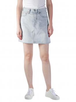 Image of Levi's High Rise Deconstructed Button Fly Skirt check ya lat