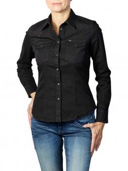 Image of Lee Slim Western Shirt black