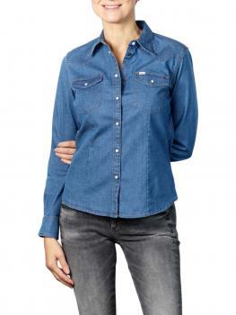 Image of Lee Slim Western Shirt blueprint