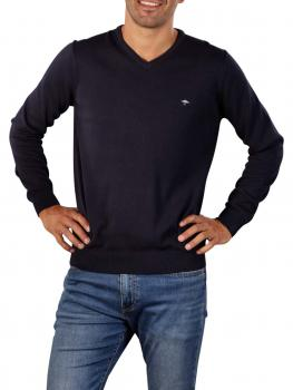 Image of Fynch-Hatton V-Neck Sweater navy