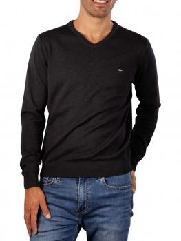Image of Fynch-Hatton V-Neck Sweater charcoal