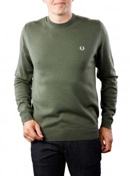 Image of Fred Perry Classic Crew Neck Sweater dark fern