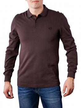 Image of Fred Perry LS Twin Tipped Shirt liquorice