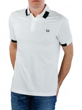 Image of Fred Perry Block Tipped Pique Shirt snow white