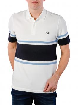 Image of Fred Perry Bold Fine Stripe Piqué Shirt snow white