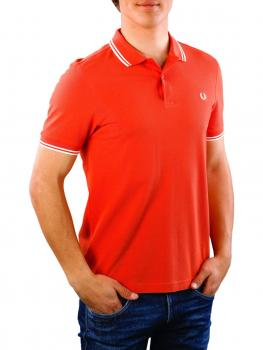 Image of Fred Perry Twin Tipped Shirt peach red