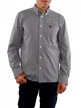Image of Fred Perry Gingham Shirt black