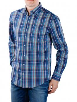 Image of Fynch-Hatton Multicolour Story Shirt navy fond check