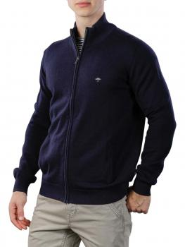 Image of Fynch-Hatton Cardigan-Zip Sweater navy