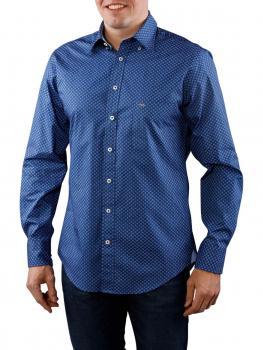 Image of Fynch-Hatton Blue White Summer Story Shirt navy check
