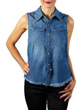 Image of G-Star Tacoma Slim Shirt 6oz Denim faded shore