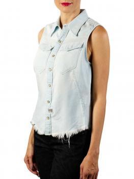 Image of G-Star Tacoma Slim Shirt 6oz Denim sun faded arctic
