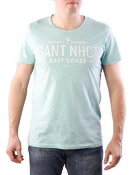 Image of Gant O2 East Coast SS T-Shirt opal green melange