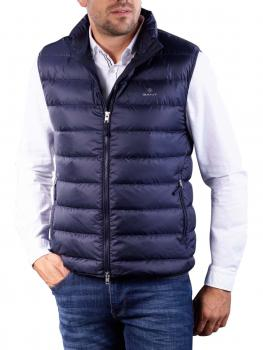 Image of Gant Light Down Gilet evening blue