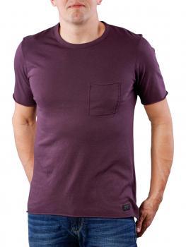 Image of Lee Raw Edge T-Shirt deep plum