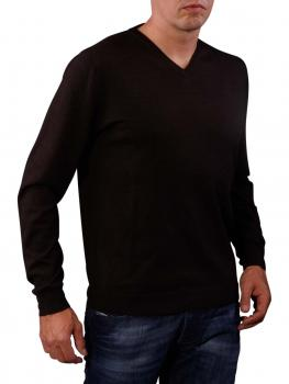 Image of Fynch-Hatton V-Neck Smart Sweater brown