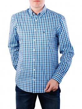 Image of Fynch-Hatton Coloured Fond Check Shirt azure
