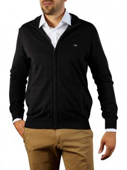 Image of Fynch-Hatton Cardigan-Zip Sweater charcoal