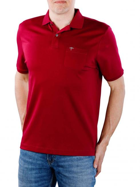 Fynch-Hatton Polo Chest Pocket Interlock berry