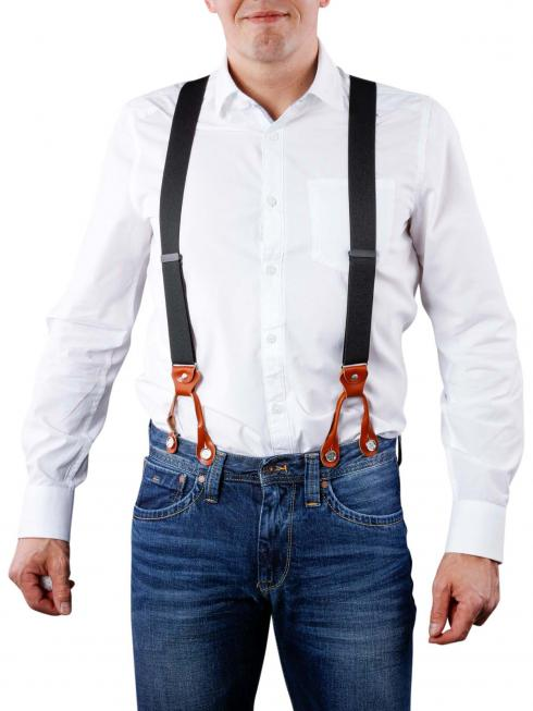 Henry Suspenders black/cognac by BASIC BELTS