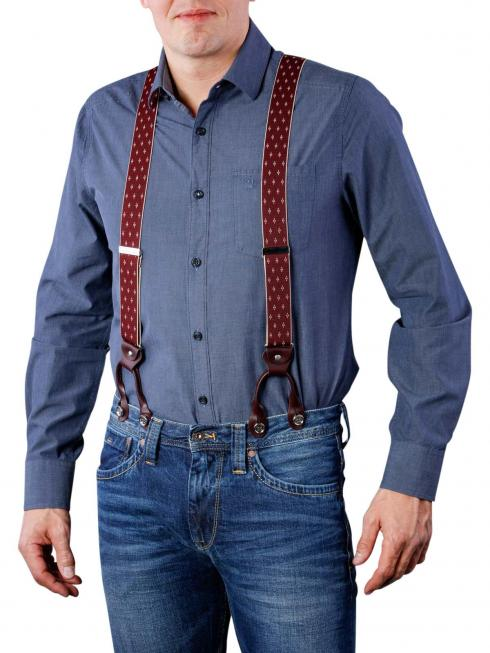 Henry Suspenders bordeaux by BASIC BELTS