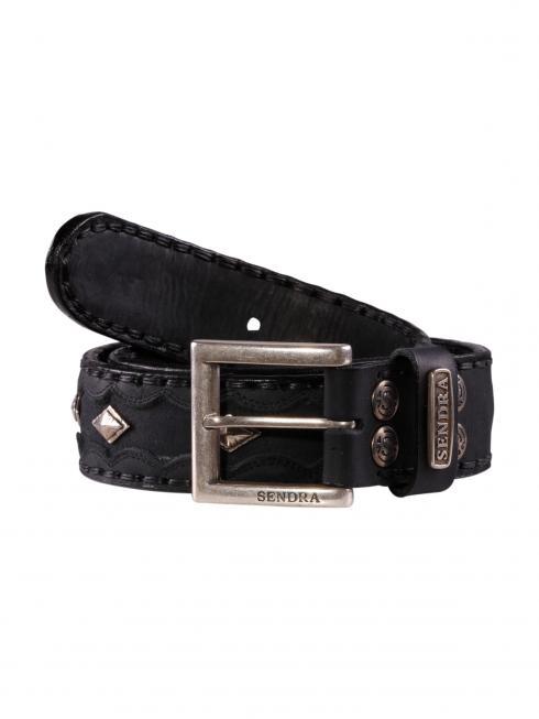 Sendra Belt Cinturon Python negro