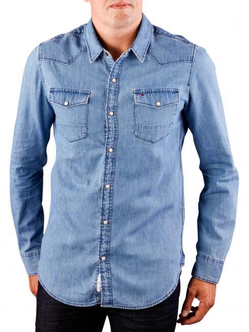 Tommy Jeans Basic Denim Shirt mid indigo