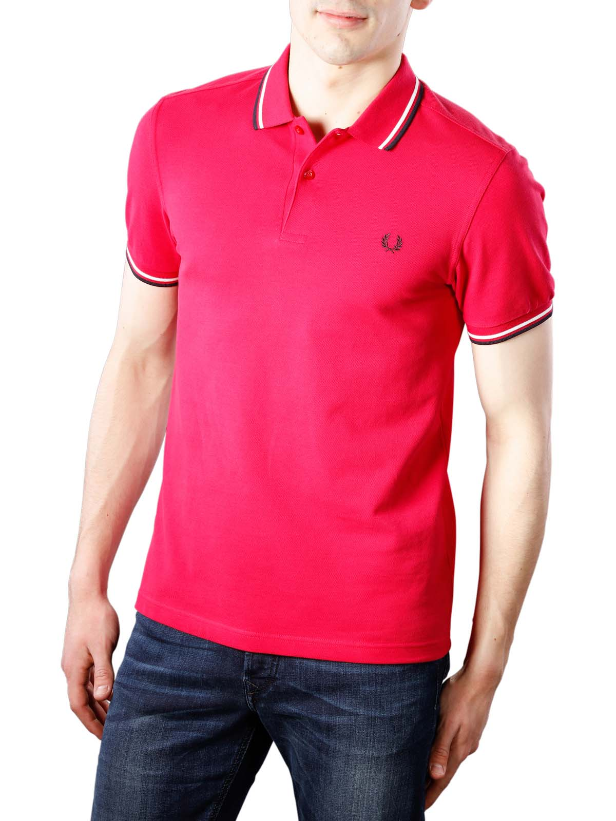 4cfd6a5a3295 Fred Perry Twin Tipped Polo Shirt terracotta/white/navy ...