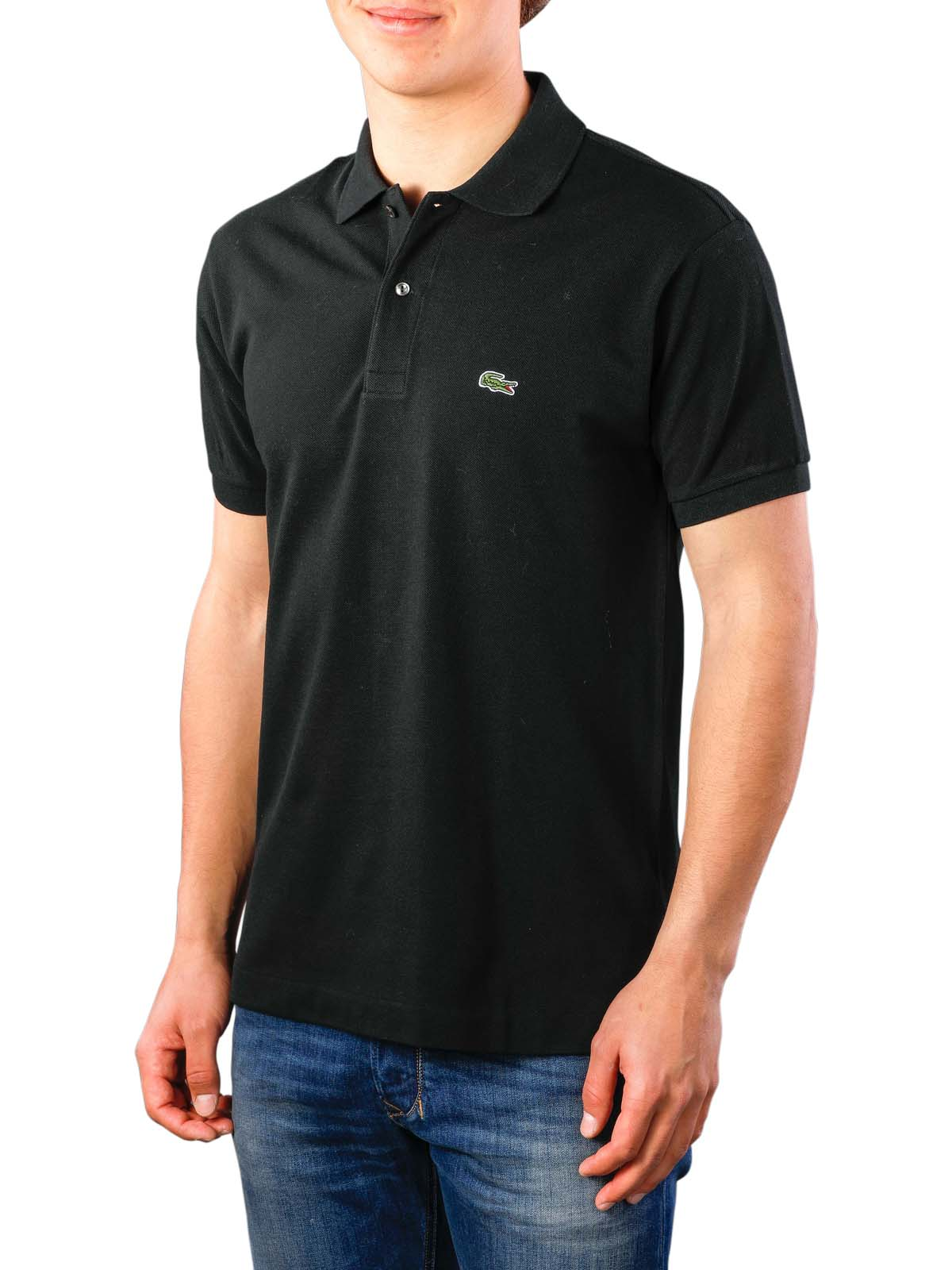 newest 1f91b a9126 Lacoste Polo Shirt Short Sleeves noir