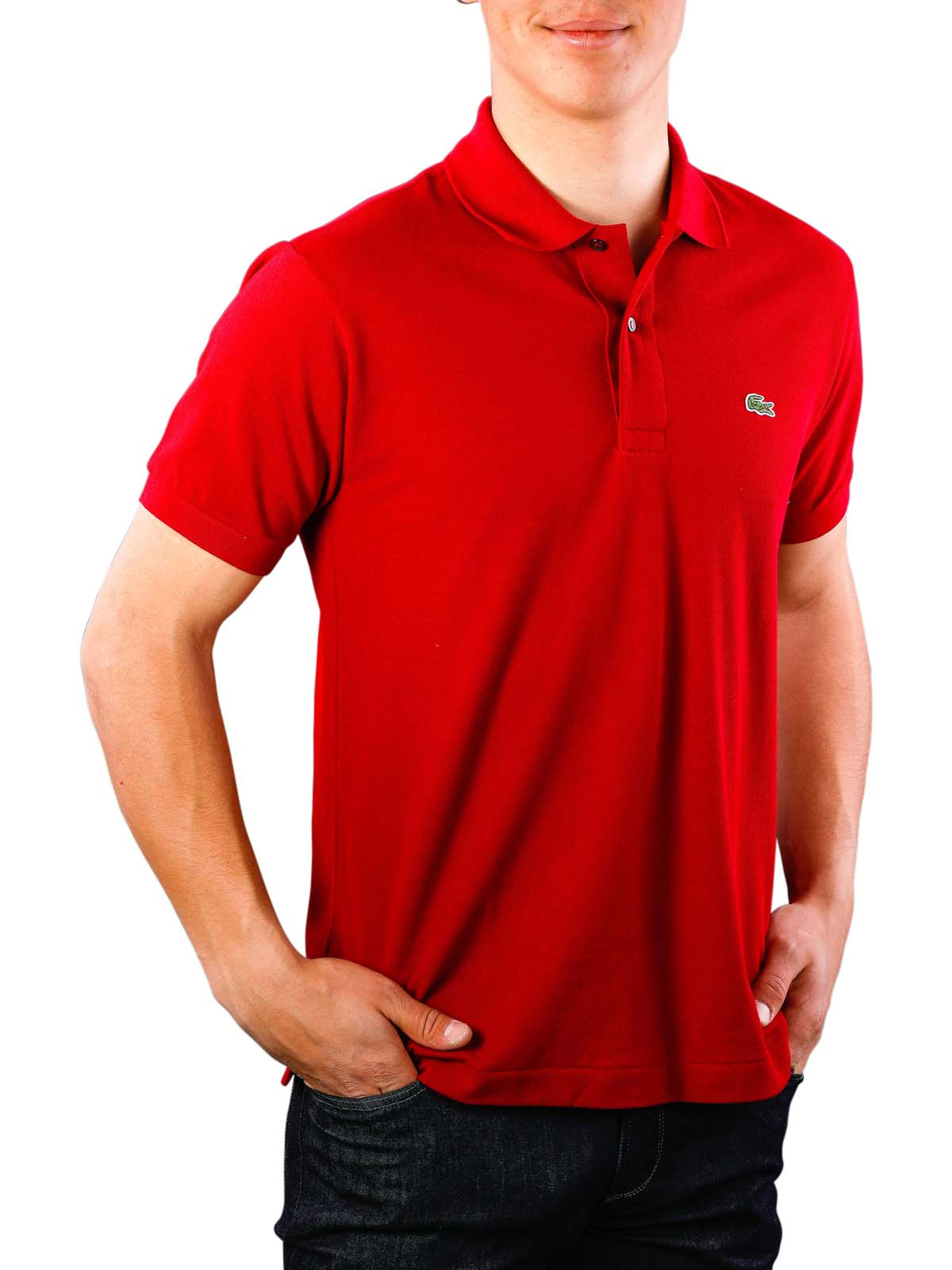 detailed pictures b9b06 a68cf McJeans.ch - Fast Delivery | Lacoste Polo Shirt Short Sleeves bordeaux |  Free Shipping - Free Returns