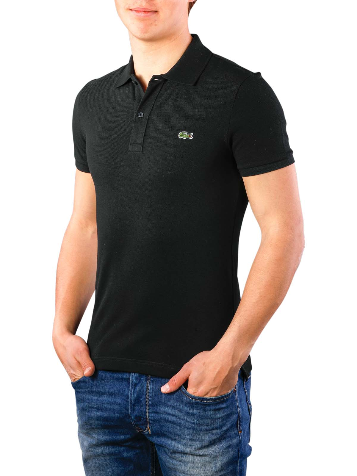 3799011c1b Lacoste Polo Shirt Slim Short Sleeves noir ...