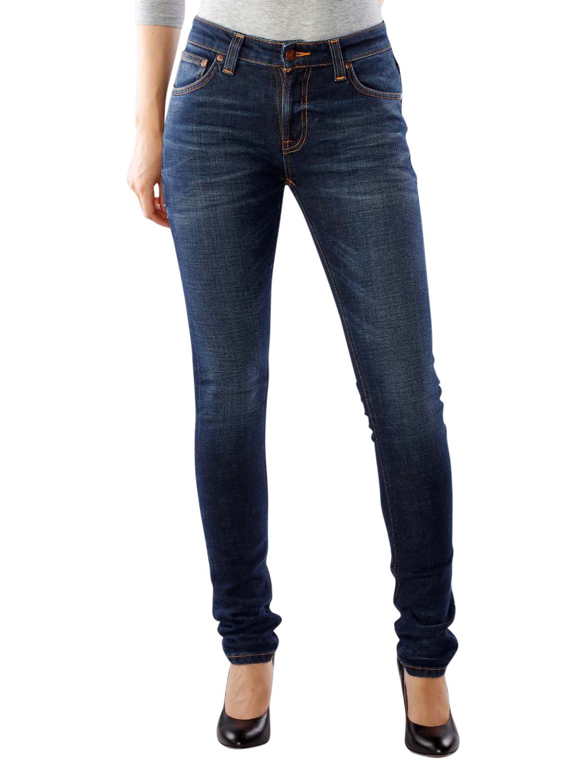 0cd1f22deffe5c Fast Delivery | Nudie Jeans Skinny Lin dark blue ... - McJeans.ch