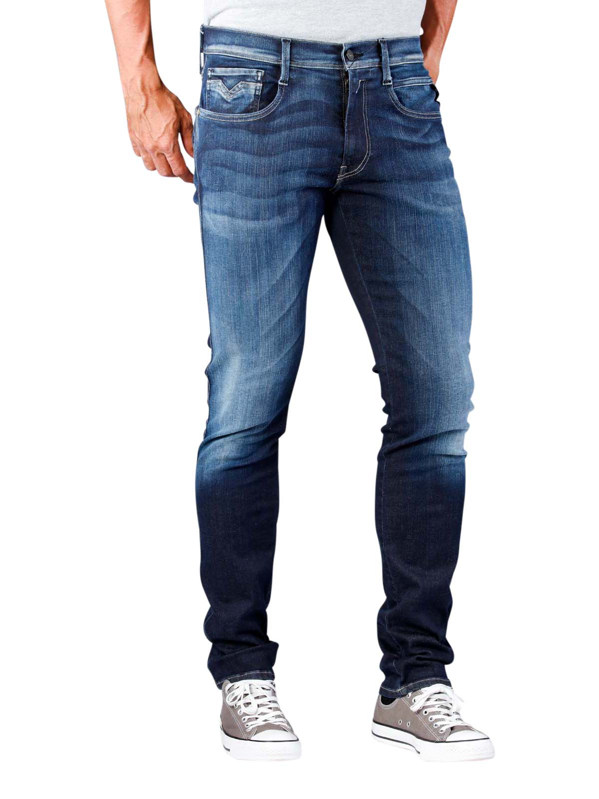 24bbb434c852ed McJeans.ch - Fast Delivery | Replay Anbass Jeans Slim Hyperflex dark washed  | Free Shipping - Free Returns