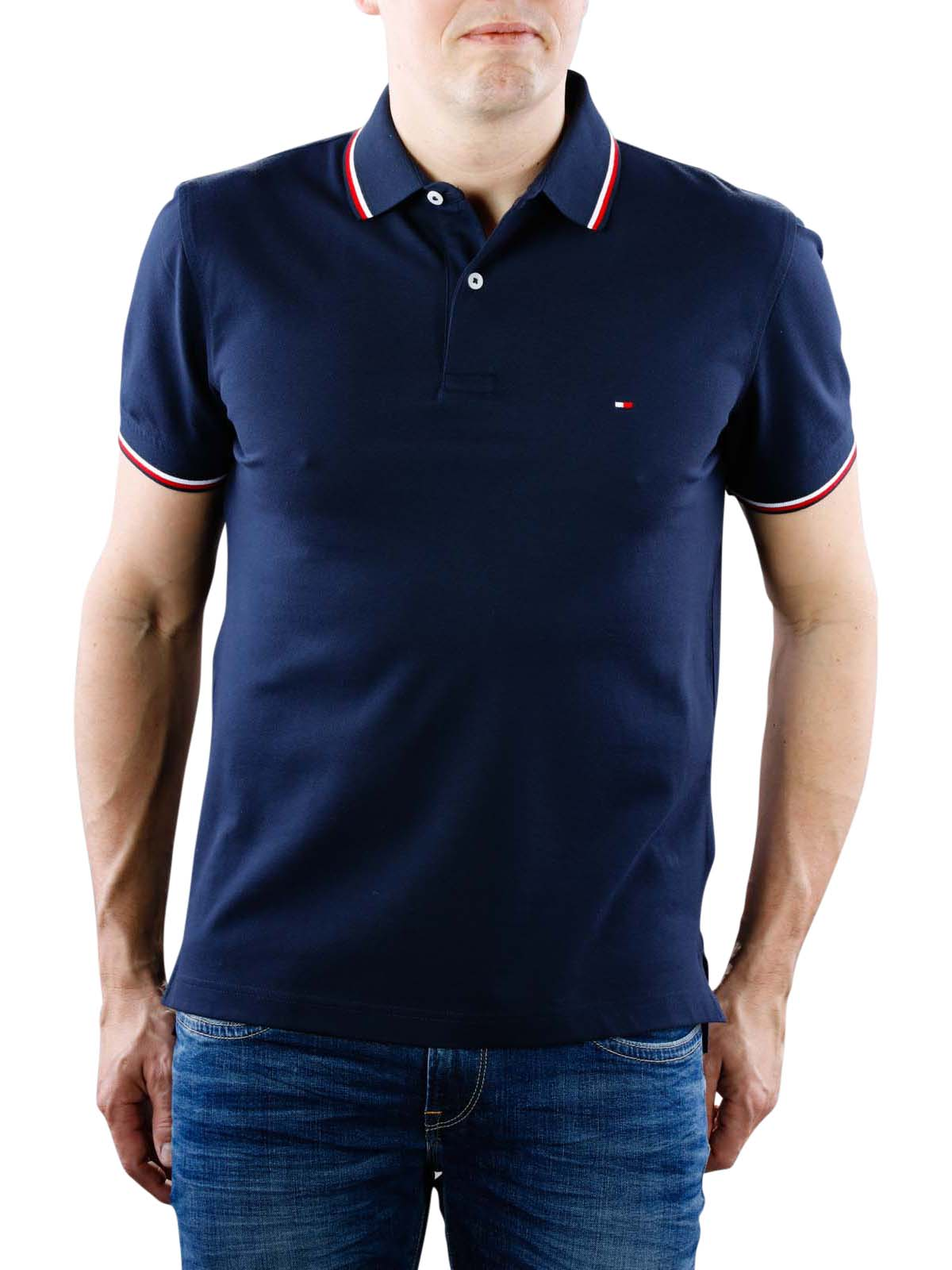 4c4393c0e04 Fast Delivery   Tommy Hilfiger Tipped Regular navy ... - McJeans.ch
