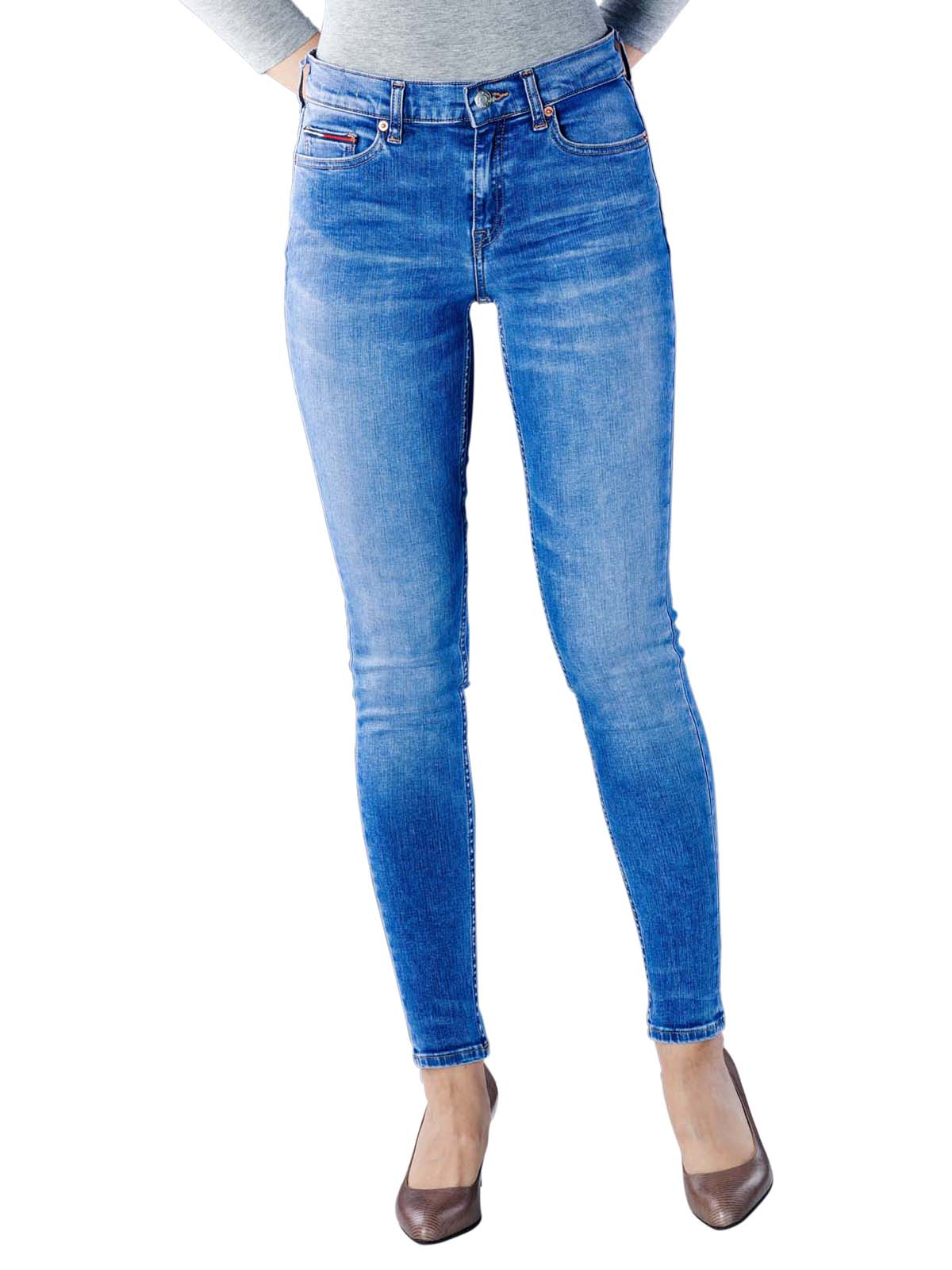 b3f42ca5 Tommy Jeans Nora Mid Skinny azel light blue stretch