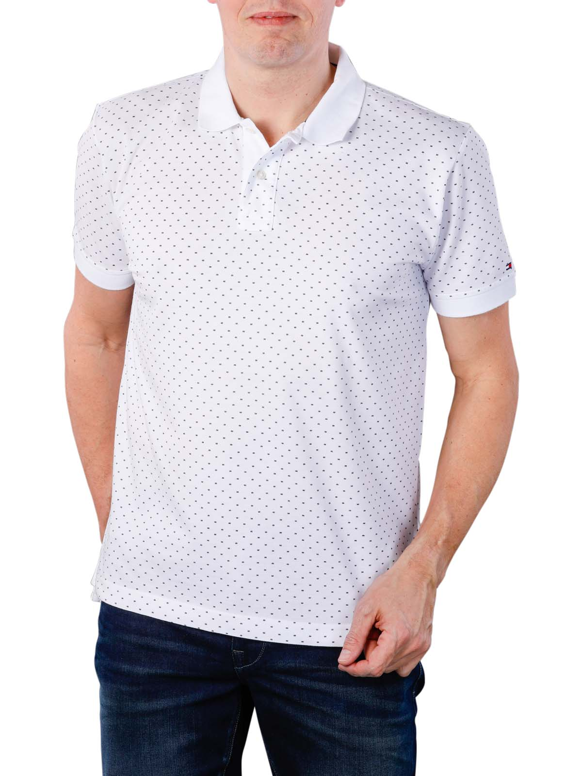 4edde867 Fast Delivery | Tommy Hilfiger Micro Print Regular Polo ... - McJeans.ch