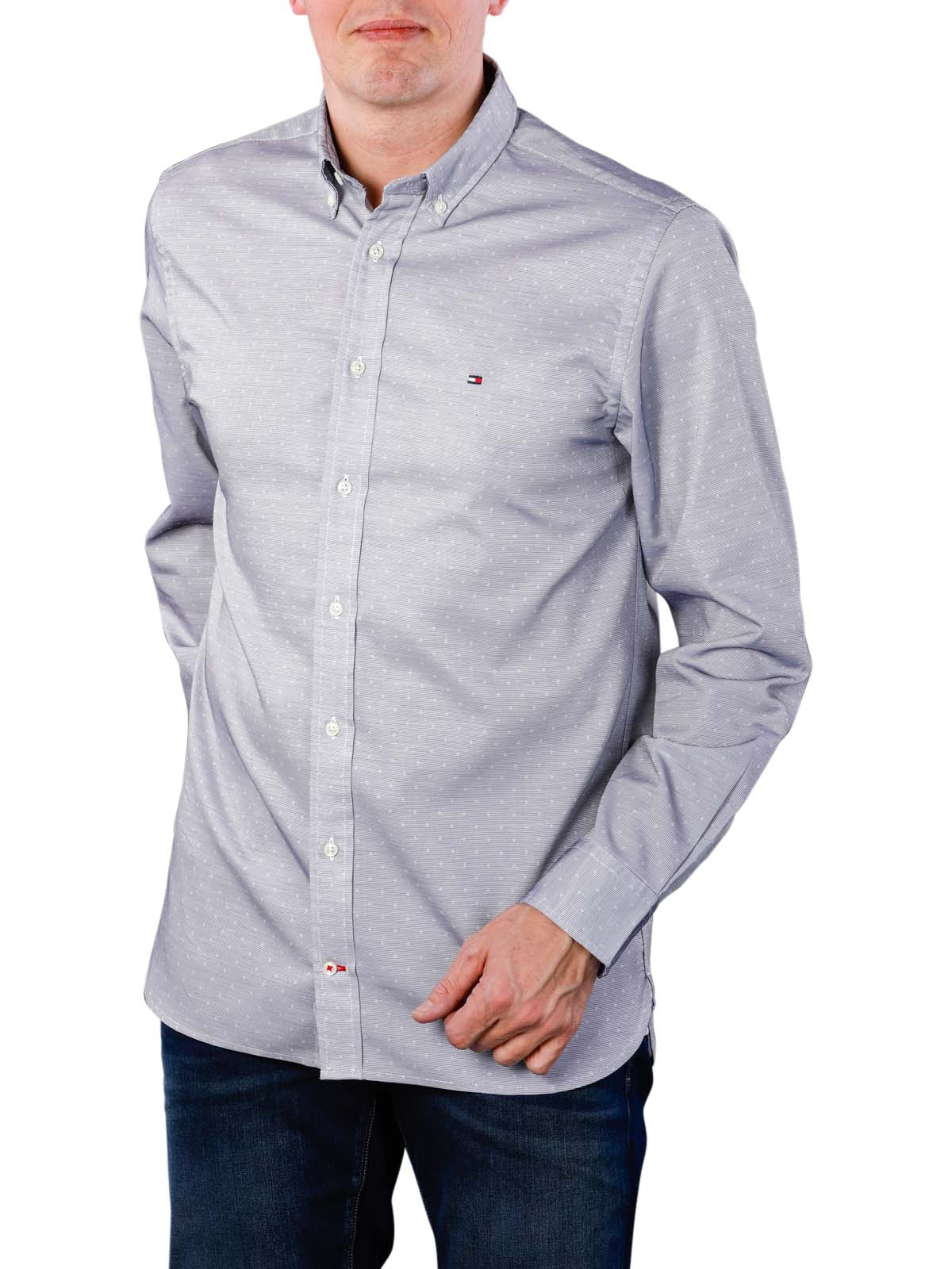 3a2bf1bc Tommy Hilfiger Two Tone End on End Shirt sky/white ...