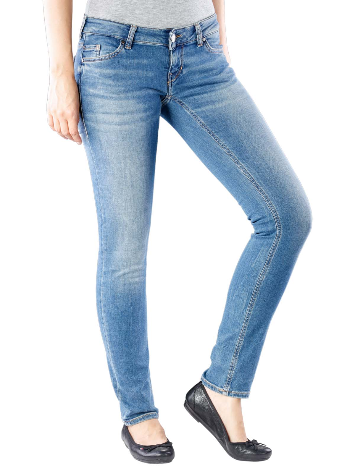 W25 Mustang Gina Skinny 2B Damen Jeans to W32 STONE WASHED
